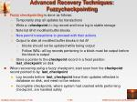 advanced recovery techniques fuzzycheckpointing