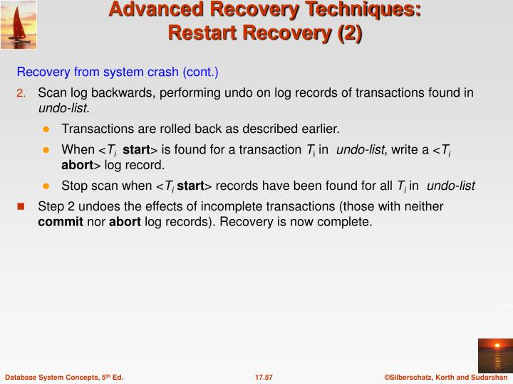 Recovery from system crash (cont.)
