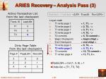aries recovery analysis pass 3
