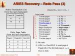 aries recovery redo pass 3