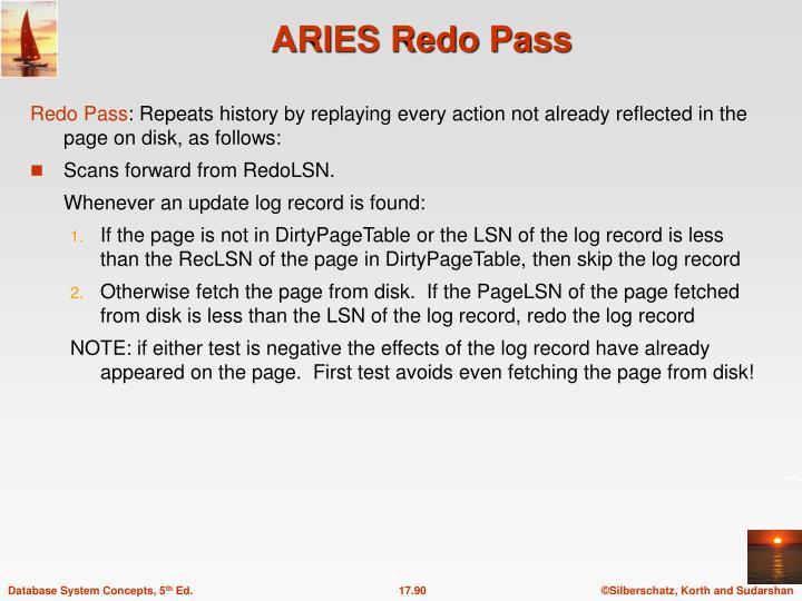 ARIES Redo Pass