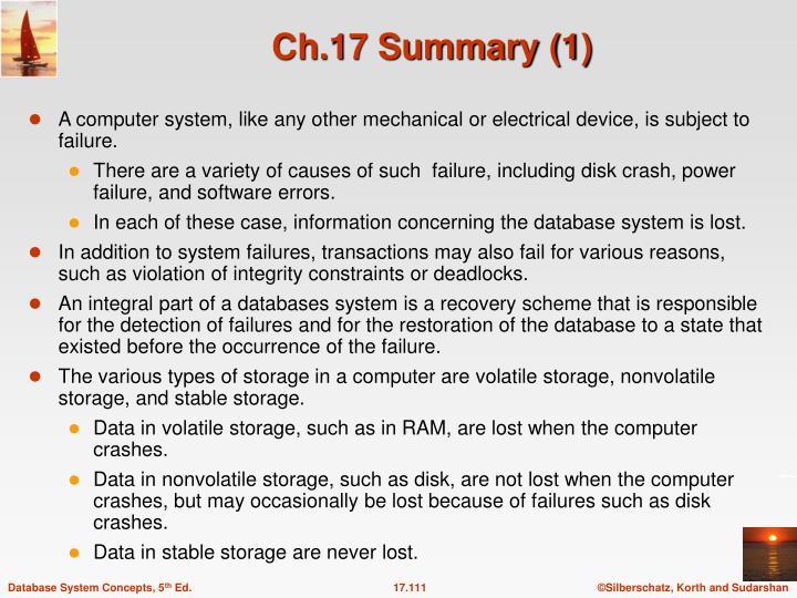 Ch.17 Summary (1)
