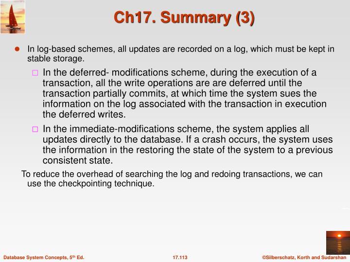 Ch17. Summary (3)