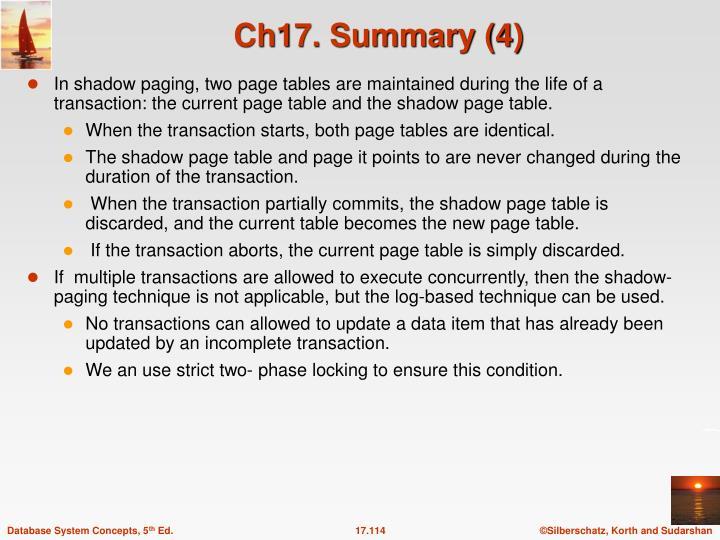 Ch17. Summary (4)