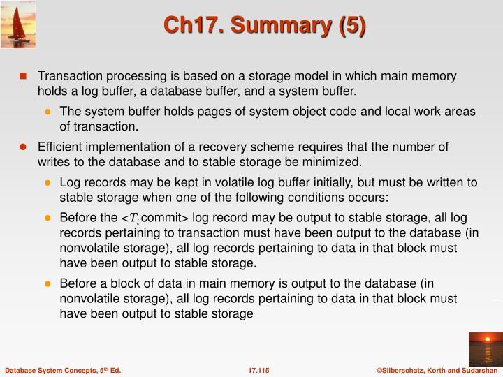 Ch17. Summary (5)