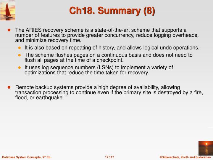 Ch18. Summary (8)