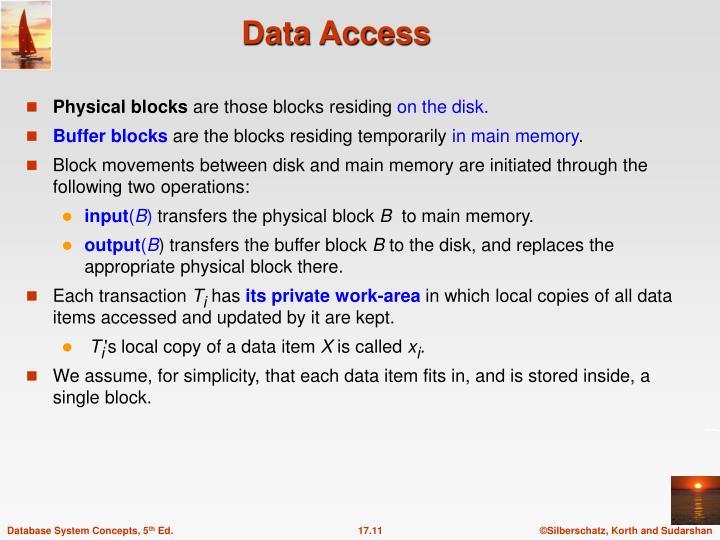 Physical blocks