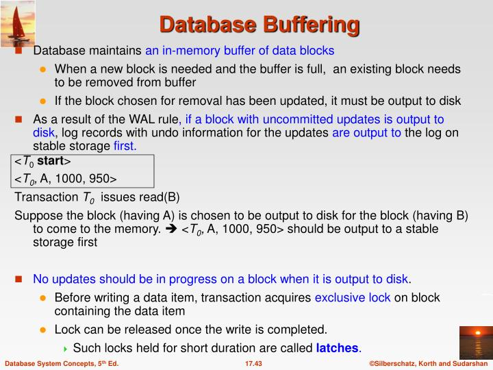 Database maintains