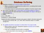 database buffering