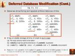 deferred database modification cont1