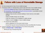 failure with loss of nonvolatile storage