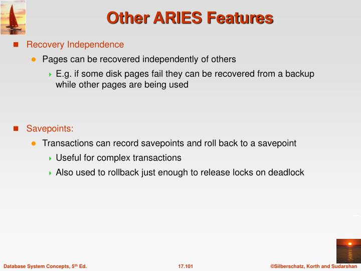 Other ARIES Features