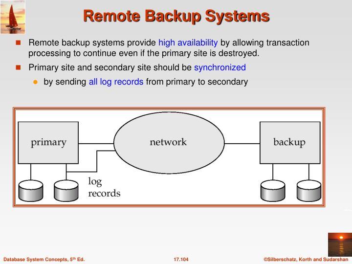 Remote backup systems provide