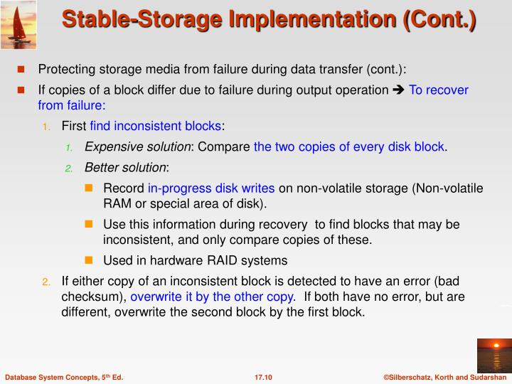 Protecting storage media from failure during data transfer (cont.):
