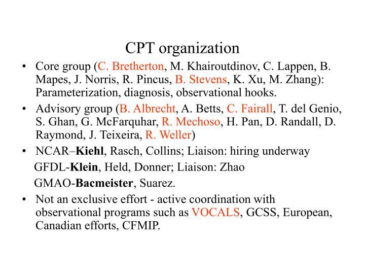 CPT organization