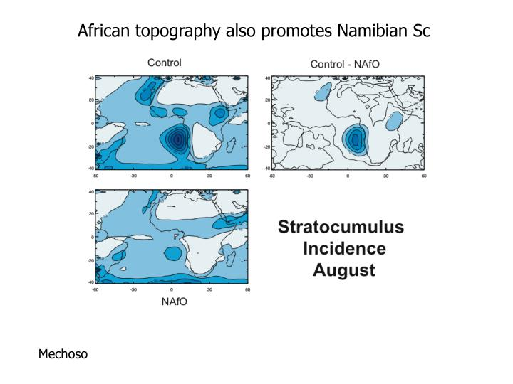 African topography also promotes Namibian Sc