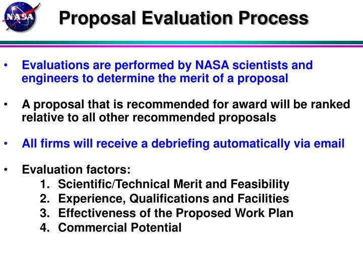 Proposal Evaluation Process