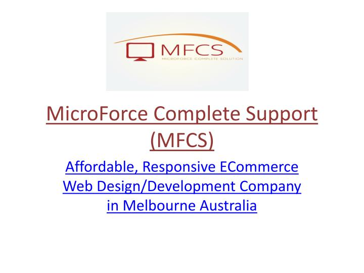 microforce complete support mfcs