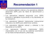 recomendaci n 11