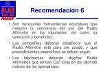 recomendaci n 61