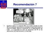 recomendaci n 7
