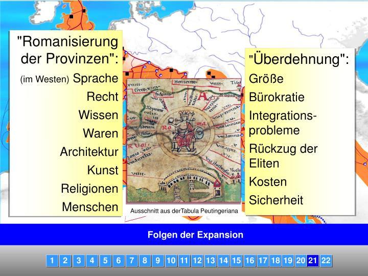 Ausschnitt aus derTabula Peutingeriana