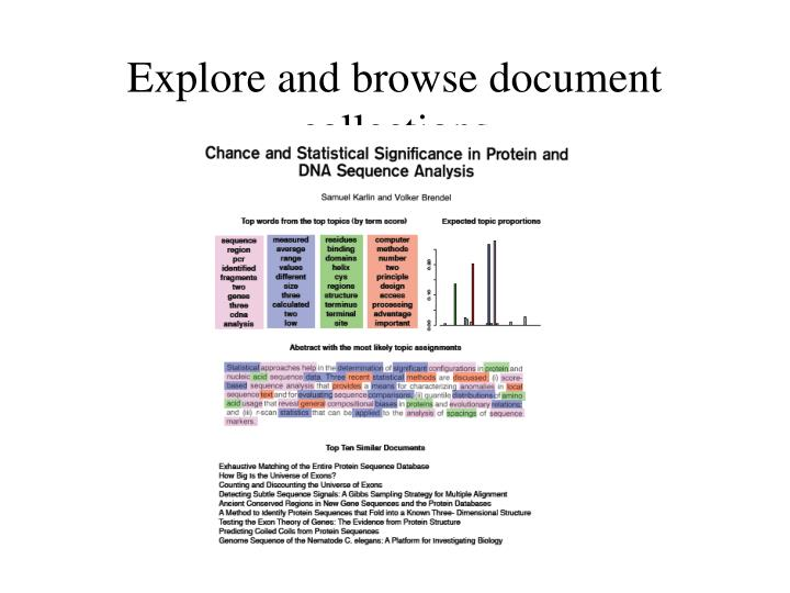 Explore and browse document collections