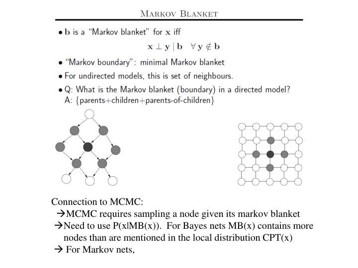 Connection to MCMC: