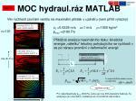 moc hydraul r z matlab3