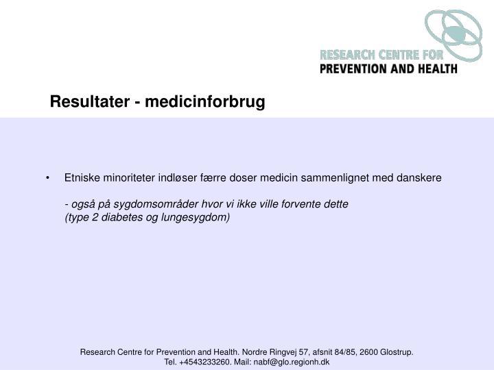 Etniske minoriteter indløser færre doser medicin sammenlignet med danskere