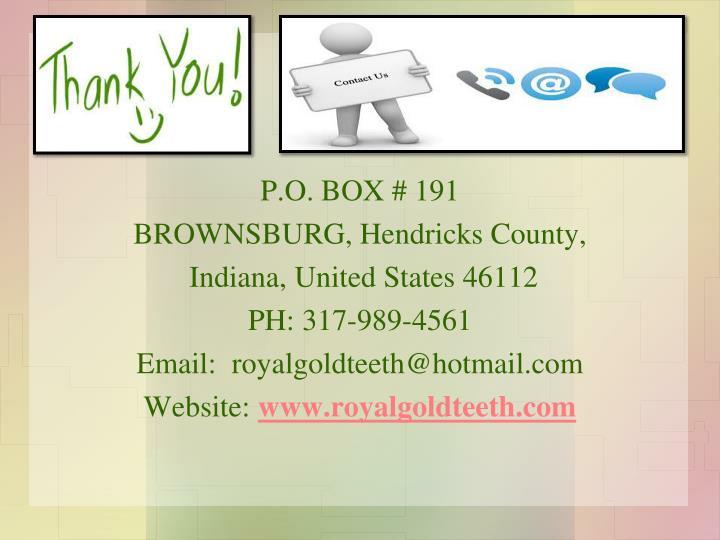 P.O. BOX # 191
