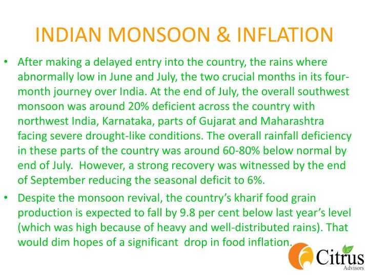 INDIAN MONSOON & INFLATION