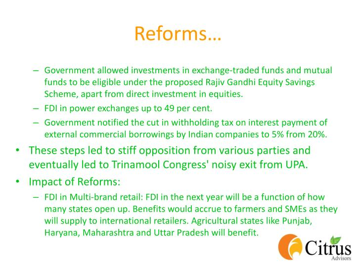 Reforms…