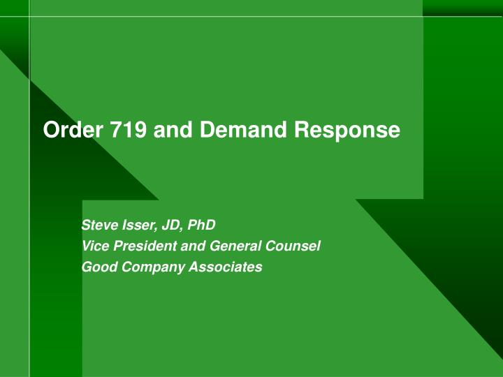 Order 719 and demand response