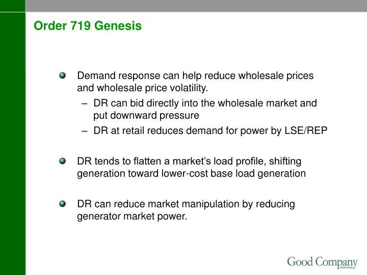 Order 719 Genesis