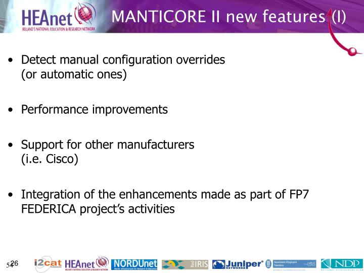MANTICORE II new features (I)
