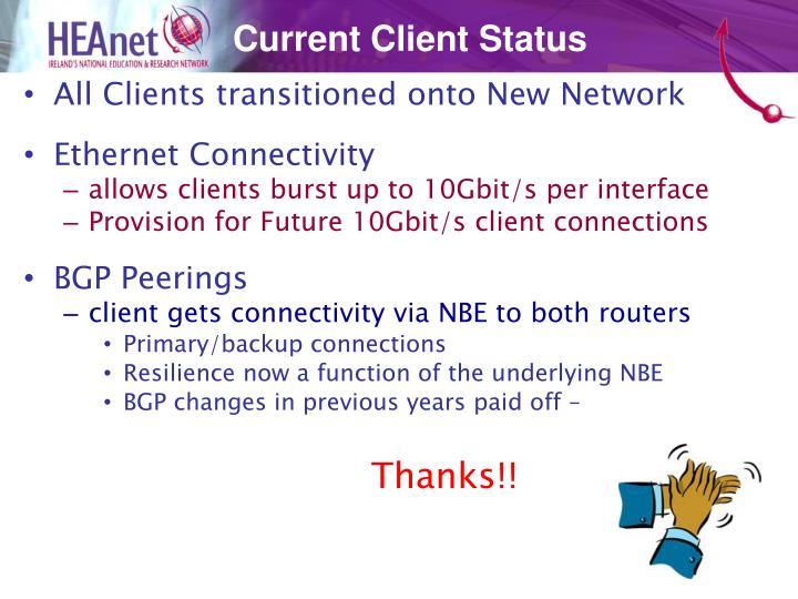 Current Client Status