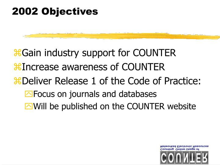 2002 Objectives