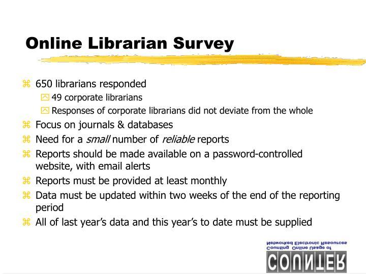 Online Librarian Survey