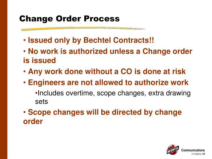 Change Order Process