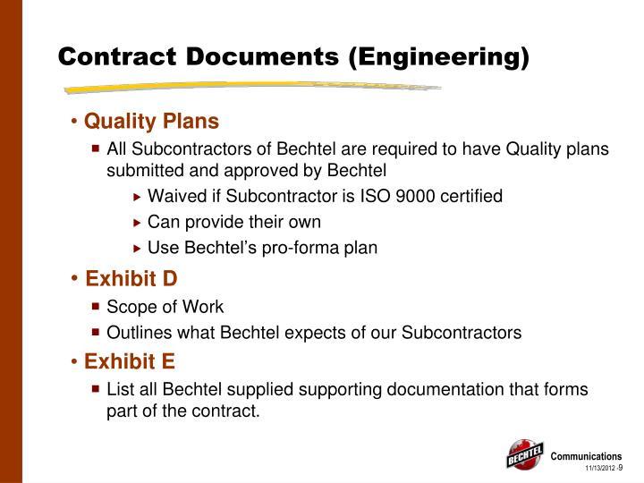 Contract Documents (Engineering)