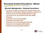 document control procedures eroom3