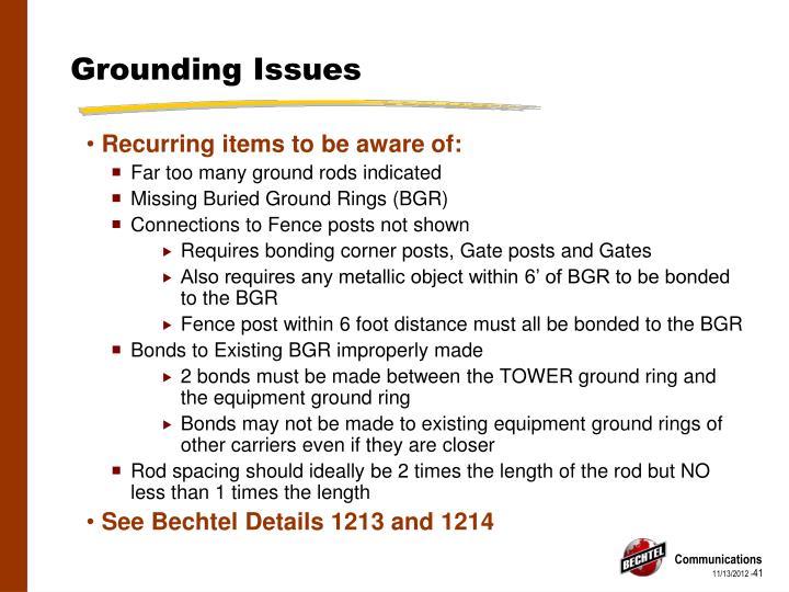 Grounding Issues