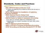 standards codes and practices