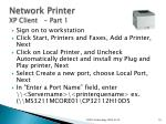 network printer xp client part 1