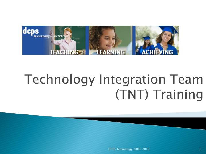 technology integration team tnt training