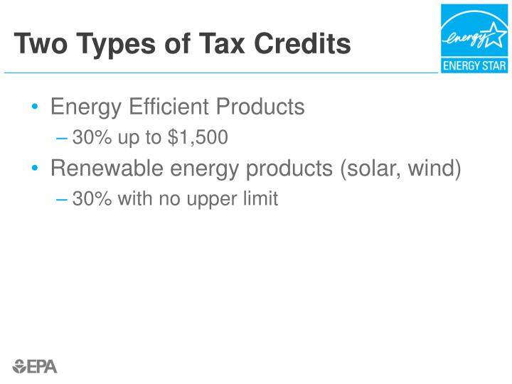Two Types of Tax Credits