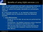 benefits of using gqa s services 1 3