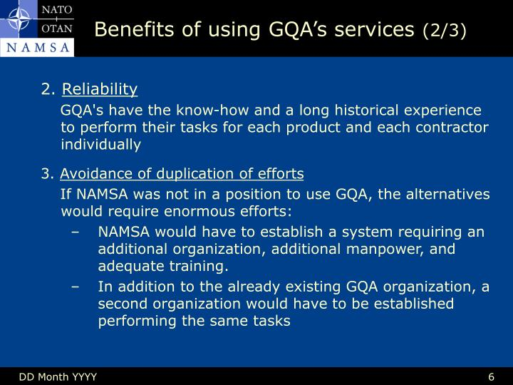 Benefits of using GQA's services
