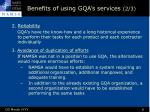 benefits of using gqa s services 2 3